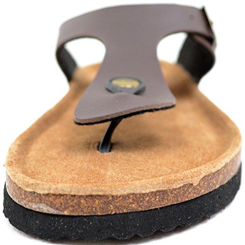 Damen-Sandalen, Flip-Flop-Stil, für Sommer, Strand, Urlaub Braun