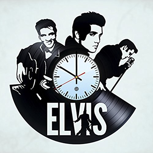 Elvis Presley Vintage Clock (Elvis Presley Vinyl Record Wall Clock - Decorate your living room with Modern Art - Best handmade gift for men and women)