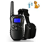 Amazon Lightning Deal 68% claimed: Rechargeable Dog Training Shock Collar, Petist 330 Yards E-collar Electric Dog Training Collar with LED Remote Control, Flashing Light, Beep, Vibration and Shock Operations, Barking Collar for Large, Medium and Small...