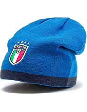 PUMA Herr FIGC vändbar mössa mössa, Peacoat-team Power Blue Team Gold, OSFA