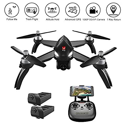 YOUDirect MJX Bugs 8 Pro FPV RC Drone Racing Helicopter Quadcopter 2.4G 6-axis Gyro 3D Flips Angle/Acro Mode Switch High Speed Training Quadcopter with 5.8G FPV camera, and 2 Batteries