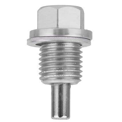 IPOTCH M14x1.5 Anodizado Magnético Motor Cárter Tapón de Aceite/Transmisión Drenaje Enchufe Color Plata