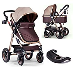 More Functions: Adjustable canopy, you can adjust it in different weather. Detachable handrail, you can detach it and replace a food tray. Big shopping basket and wallet bag on the bottom of the bassinet ensure you to go out for shopping with...