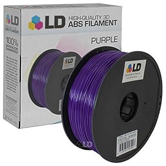 LD© morado 1,75 mm ABS 3d filamento impresora: Amazon.es: Amazon.es