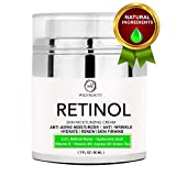 wrinkle NEW 2018 Retinol Moisturizer Cream for Face and Eye Area with Hyaluronic Acid - Active Retinol 2.5% - Vitamin E - Anti Aging Face Cream to Reduce Wrinkles  & Fine Lines - Best Day and Night Cream