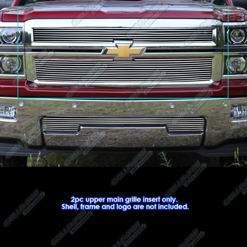 - APS Fits 2014-2015 Chevy Silverado 1500 Billet Grille Inserts