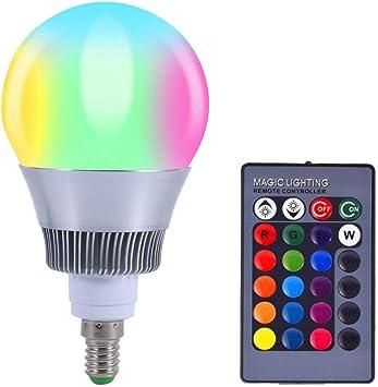 Bombilla LED Bombilla de luz LED que cambia de color, RGB 10W E14 ...