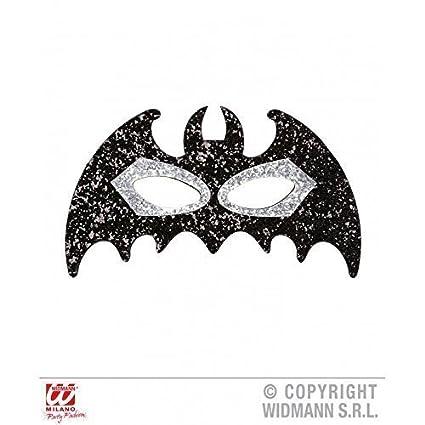 lively moments Máscara de pestañas Murciélago con brillo en negro plata para Carnaval / Halloween /