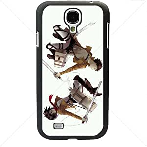 Shingeki no Kyojin Attack on Titan Manga Anime Comic Samsung Galaxy S4 SIV I9500 TPU Soft Black or White case (Black)