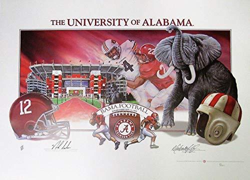 Nick Saban Alabama Crimson Tide Autographed/Signed 22