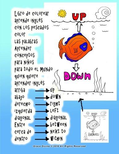 Libro De Colorear Aprende Inglés Con Los Pescados Color Las Palabras