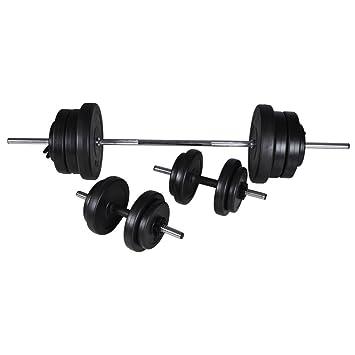 lingjiu Shopping 60,5 kg Pesas Juego de mancuernas discos de pesas en Peso: