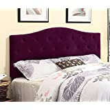 with bedside purple tufted and tables clear headboard nightst ands bedroom shade transitional