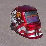 Hanbaili Welding Helmet, (Polish eagle)Solar Power Auto Tig Mig Welding Weld Grinding Welders Arc Helmet Mask Protector