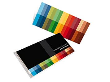Colorimétrie: jeu de 25 Nuanciers client – couleurs chaudes