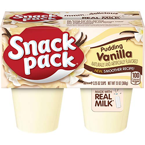 Snack Pack Vanilla Pudding Cups 4 Count 12 Pack