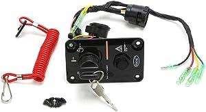 RUPSE Outboard Single Engine Key Switch Panel for Yamaha 704-82570-08-00