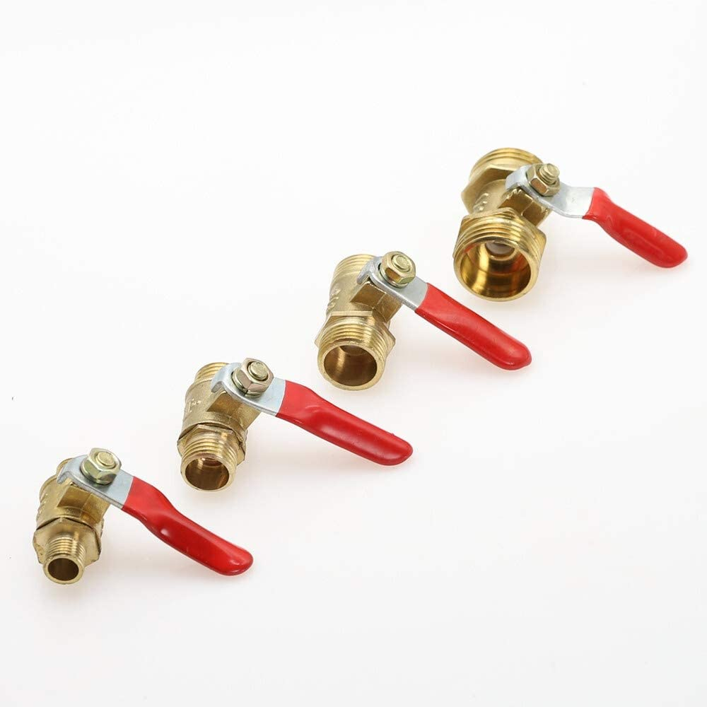 Fittings Pneumatic Valve 1//8 1//4 3//8 1//2 Inch BSP Male Thread Mini Ball Valve Brass Connector Joint Copper Coupler Adapter Water Air Specification : 3//8 BAIJIAXIUSHANG-TIES Valves
