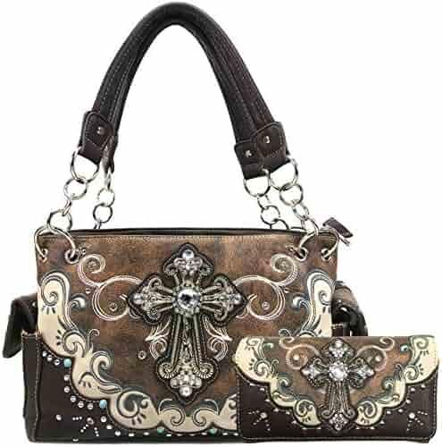 3c466b8723f Shopping JustinWest - Ivory or Browns - Handbags & Wallets - Women ...