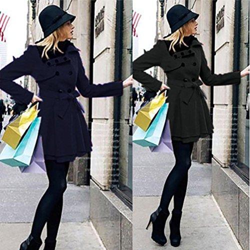 Chaqueta Negro Largo Abrigo Invierno Abrigo cálidas Outwear Parka Delgada SHOBDW Grueso Mujeres Eq7wTp4