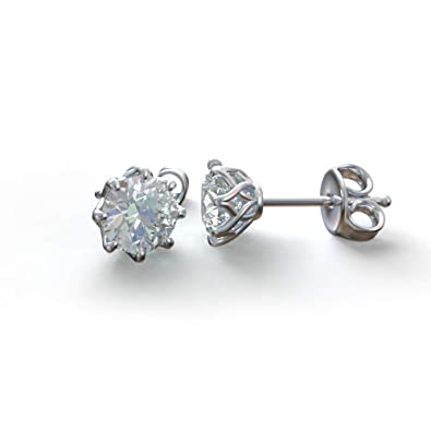 0d66a4610 Buy Avarta Entice 92.5 Sterling Silver Stud Earring With 2 Carat of  Swarovski Element Solitaire For Girls & Women Online at Low Prices in India    Amazon ...