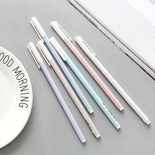 0.38mm Plain simple gel pen needle full black pen school office supplies