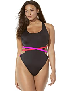 6bc1aa8ccdc Swimsuits for All Women's Plus Size Ashley Graham Hotshot One Piece ...