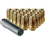 CECO Gold Spline Drive Tuner Installation Kit (20 Lug Nuts & 1 Key) 12X1.25 R.H. Thread Pitch