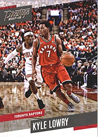 8154daba98a7 Amazon.com  2017-18 Panini Prestige  107 Kyle Lowry Toronto Raptors ...