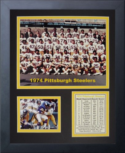 Legends Never Die 1974 Pittsburgh Steelers Framed Photo Collage, 11x14-Inch