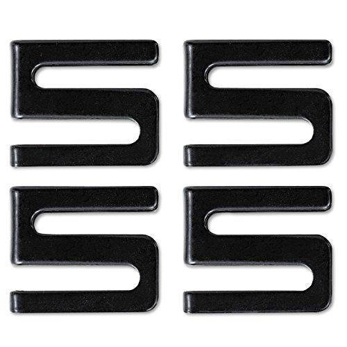 Alera SW59SHBL Wire Shelving S Hooks, Metal, Black, 4 Hooks/Pack