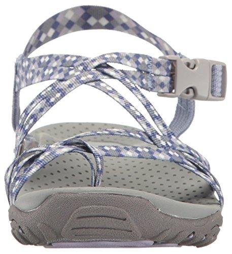 Skechers Womens Reggae Tie Dyed Toe Ring Sandal, Lavender Tie Dye, 10 M US