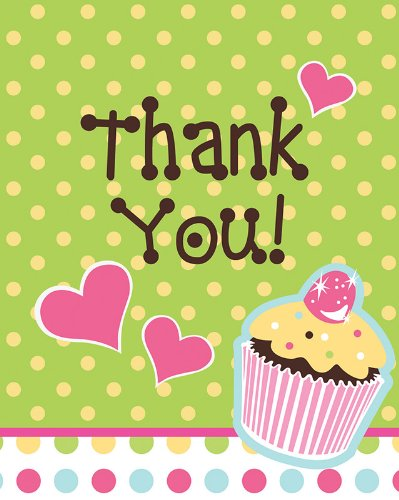 Creative Converting Sweet Treats Thank You Notes, 8 Count]()