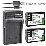 Kastar Battery 2 Pack & Slim USB Charger for Olympus BLM-1, BLM-01, PS-BLM1 and Olympus C-5060, C-7070, C-8080, E-1, E-3, E-30, E-520, EVOLT E-300, E-330, E-500, E-510