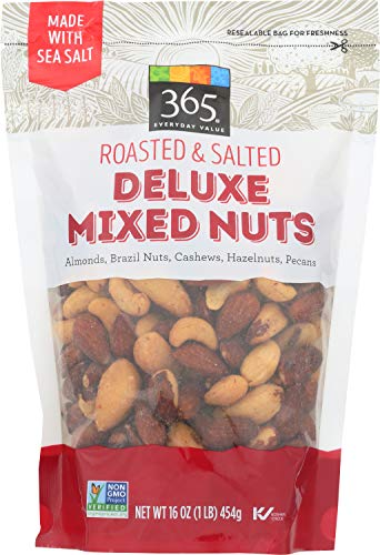 365 Everyday Value, Deluxe Mixed Nuts, Roasted & Salted, 16 oz (Dry Nuts Mixed Roasted)