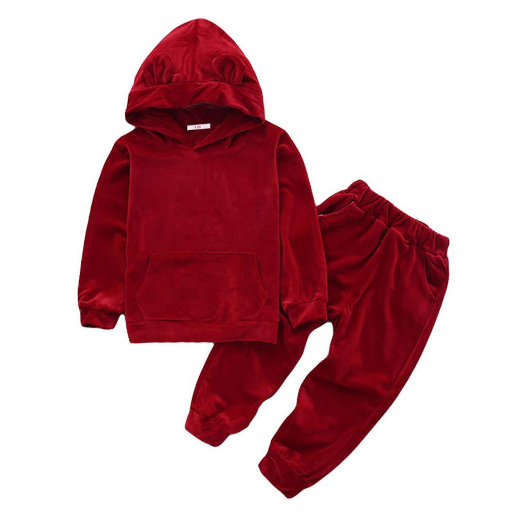 70c4b8a20ee7 Amazon.com  LZH Baby Boys Girls 2Pcs Tracksuit Hooded Jacket Coat + ...