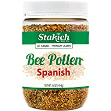 Stakich SPANISH BEE POLLEN GRANULES 1 lb (16 oz) - 100% Pure, Natural, Unprocessed -