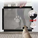 Magic Gate for Dog,Strong Pet Gate Portable Folding Safe Guard Install Anywhere for Pet Safe,Pet Isolation Fence Net