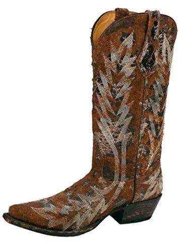 Johnny Ringo Womens Western Boot T-toe Pelle Di Vacchetta Marrone 922-17t B (m)