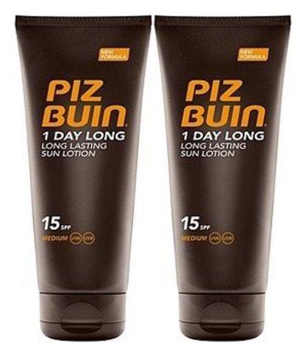 Piz Buin 1 Day Long Duo Sun Lotion Spf 15 Large 2 X 200ml= 400ml