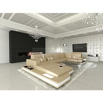 MEGA Conjunto de Muebles Para Salón messana forma de U Beis ...