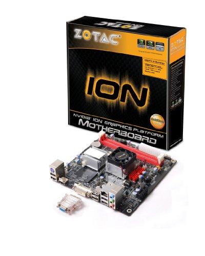ZOTAC Atom Dual-Core 1.6GHz/MCP7A-ION/DVI&HDMI/A&V&GbE/Mini ITX Motherboard IONITX-G-E (Ddr2 Sata2 Lan Audio)