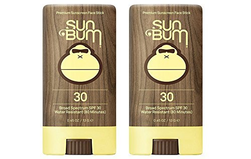 Sun Bum SPF 30 Sunscreen, Original Face Stick (2 Pack)