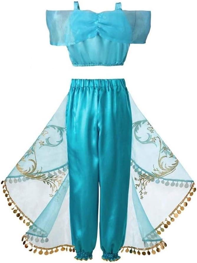XIAOYUTOU Vestido de niña Princesa Jasmine Ropa de Halloween for ...