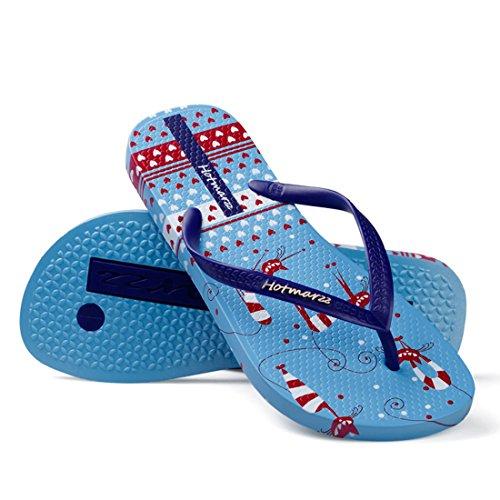 Zapatillas Playa Hotmarzz Chanclas Aves Azul Verano Flops Flip Piscina Para Sandalias Mujer 0xOWq6RWZ