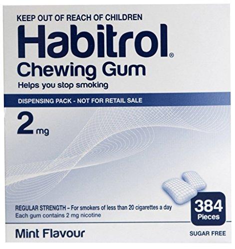 Habitrol Nicotine Gum 2mg Mint BULK 384 pieces ()