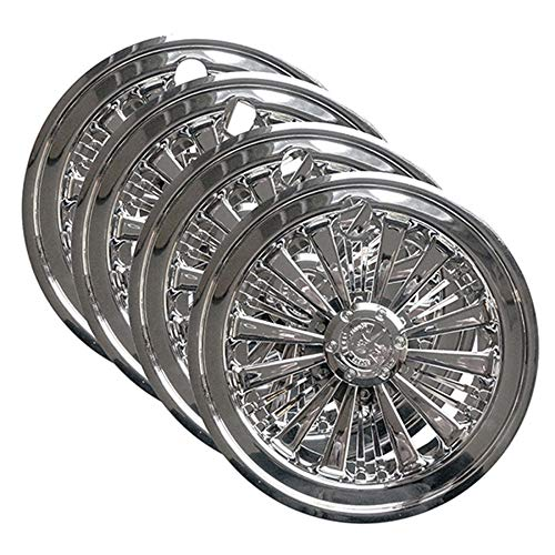 "3G Set (4) 8"" Chrome Eagle Wheel Covers for Club Car, EZGO, Yamaha, Golf Carts"