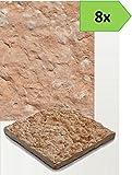 Pavimento esterno in pietra 50x50 rustico-8 pz-mattonella piastrella giardino