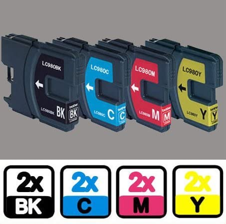 8 Printer Ink Cartridges for Brother LC61 MFC-250C MFC-255CW MFC-290C MFC-295CN
