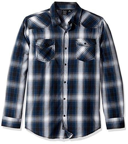 Burnside Mens Choice Longe Sleeve Button Down Woven Shirt